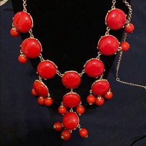 JCrew Red Bubble Necklace